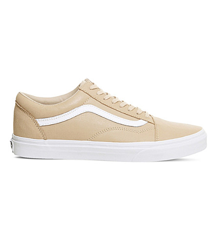VANS Old Skool low-top leather sneakers (Toasted+almond