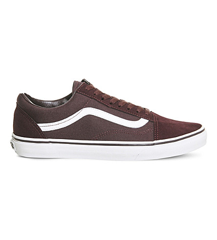 VANS Old Skool suede and canvas trainers (Iron+brown+white
