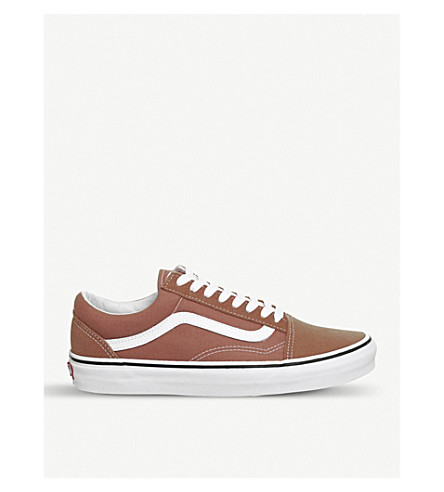 VANS Old Skool canvas and suede trainers (Autumn+glaze+white