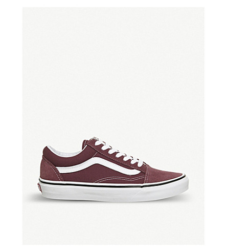 VANS Old skool suede and canvas trainers (Apple+butter+white
