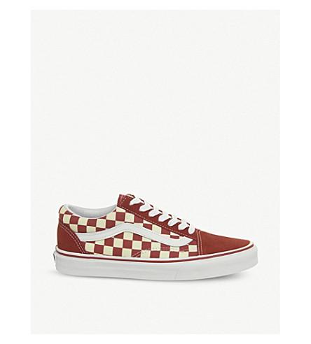 VANS Old skool checkerboard trainers (Racing+red+white