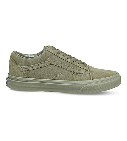 VANS Old Skool low-top suede trainers (Burnt+olive+suede