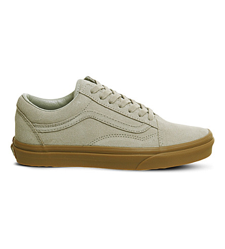 VANS Old Skool suede trainers (Light+khaki+gum