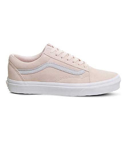 VANS Old skool loe-top suede trainers (Pale+pink+grey
