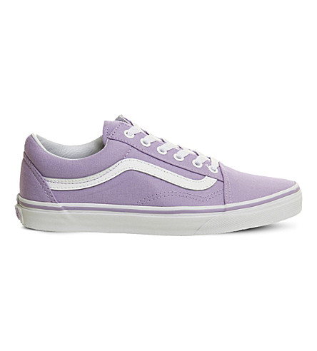 VANS Old Skool canvas and suede trainers (Lavender+white
