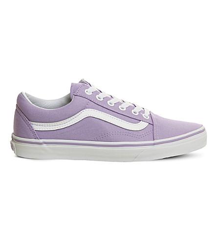VANS Old Skool canvas and suede sneakers (Lavender+white