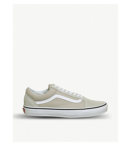 VANS Old Skool low-top canvas and suede trainers (Silver+white