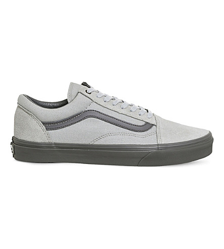 VANS Old Skool canvas and suede trainers (High+rise+pewter