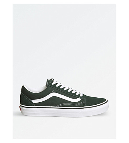 VANS Old Skool canvas trainers (Scarab+green+white