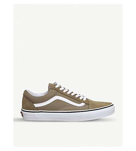 VANS Old Skool canvas and suede trainers (Tigers+eyes+white