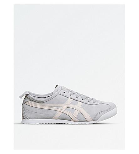 ONITSUKA TIGER 墨西哥 66 绒面革运动鞋 (灰 + 粉红色 + 麂皮绒