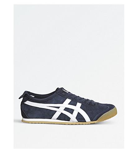 ONITSUKA TIGER 墨西哥66麂皮绒运动鞋 (海军 + 白 + 胶