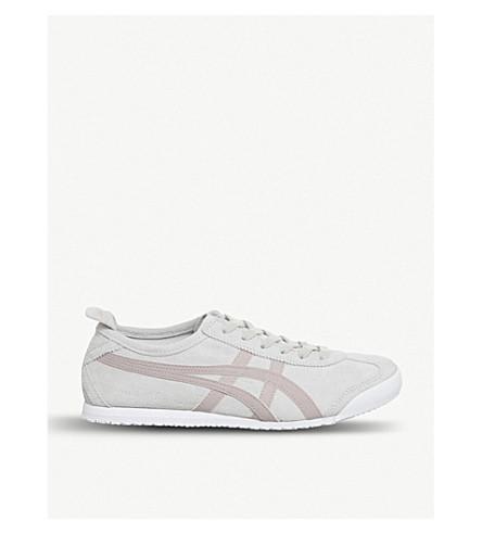 ONITSUKA TIGER墨西哥66麂皮绒运动鞋 (桦木 + 珊瑚 + 云