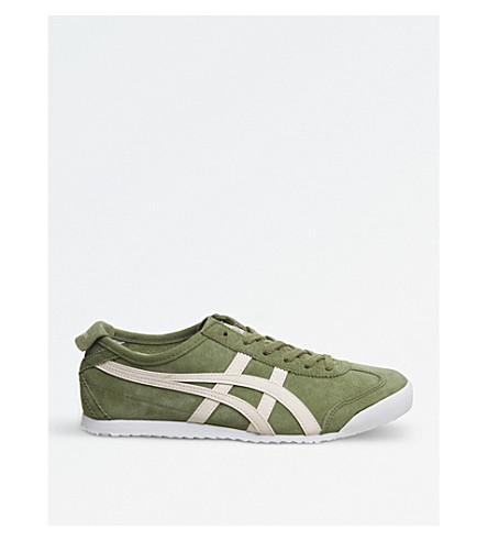 ONITSUKA TIGER Mexico 66 suede trainers (Khaki+pink+suede