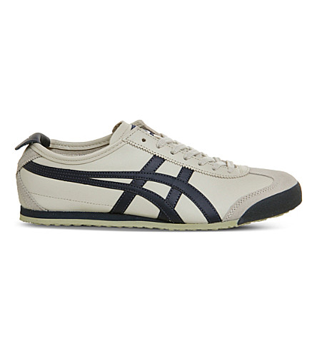 ONITSUKA TIGER Mexico 66 leather trainers (Birch+india+latte