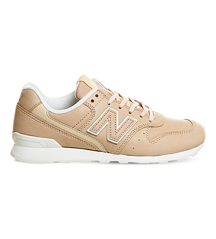 NEW BALANCE Wl996 leather trainers (Tan leather