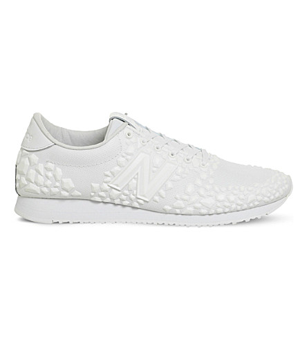 NEW BALANCE 420 embellished mesh trainers (White+embossed