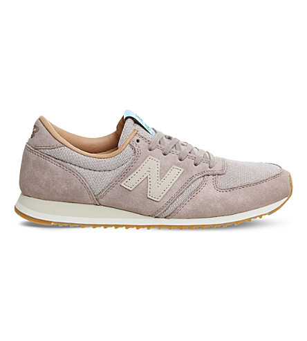 NEW BALANCE 420 low-top suede and leather trainers (Crescent+powder
