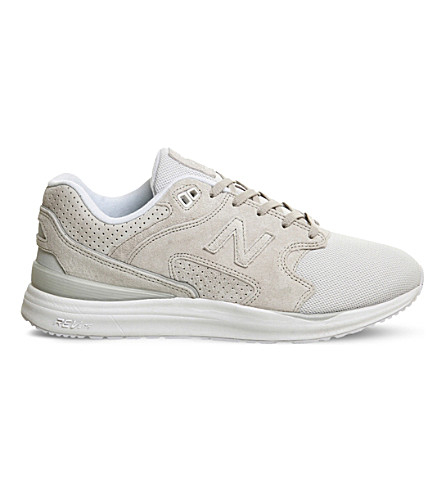 NEW BALANCE ML1550 suede and mesh sneakers (Light grey