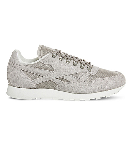 REEBOK Classic suede and mesh sneakers (Sand stone chalk
