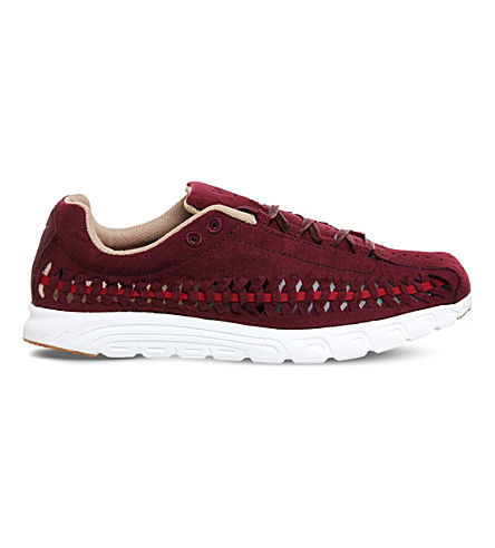 NIKE Mayfly woven suede trainers (Night+maroon+red