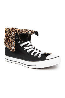 CONVERSE X leopard-print All Star high-top trainers