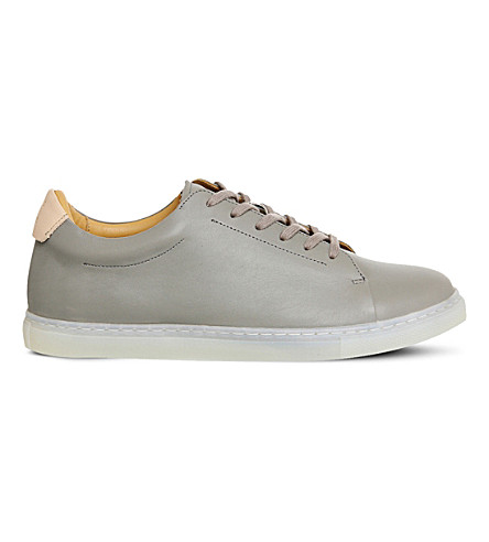PAIRS IN PARIS No1 martel leather trainers (Grey+leather