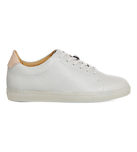 PAIRS IN PARIS No 1 martel leather trainers (Off+white+leather