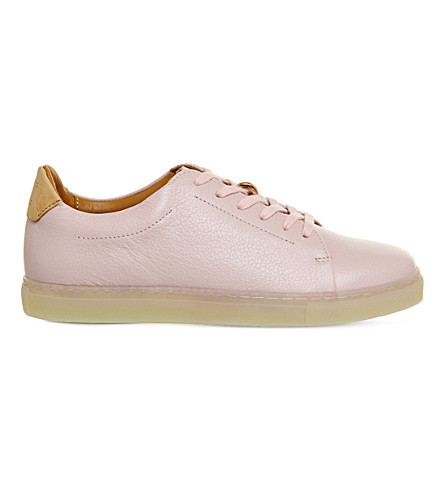 PAIRS IN PARIS No 1 Martel leather trainers (Pink+rose+gold