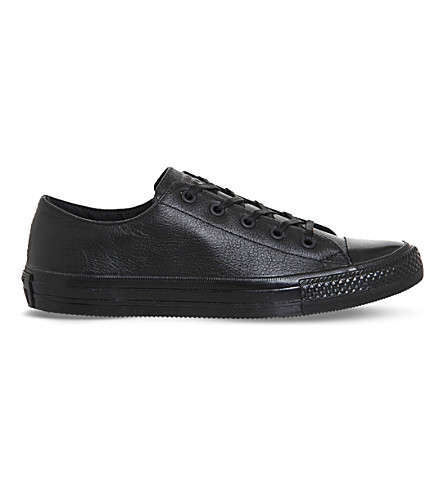 CONVERSE Chuck Taylor Gemma leather trainers (Black+mono