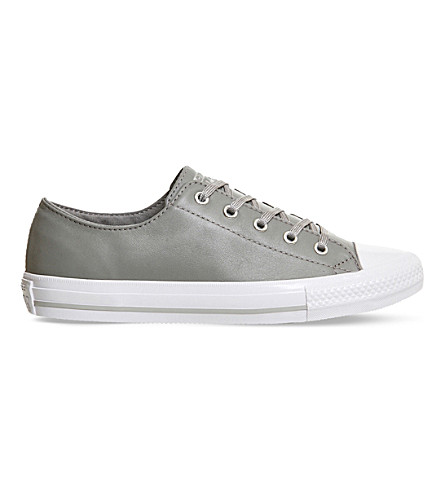 CONVERSE Chuck taylor all star gemma leather trainers (Dolphin white mouse