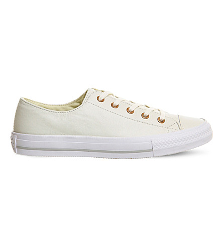 CONVERSE Gemma low-top leather trainers (Egret rose gold