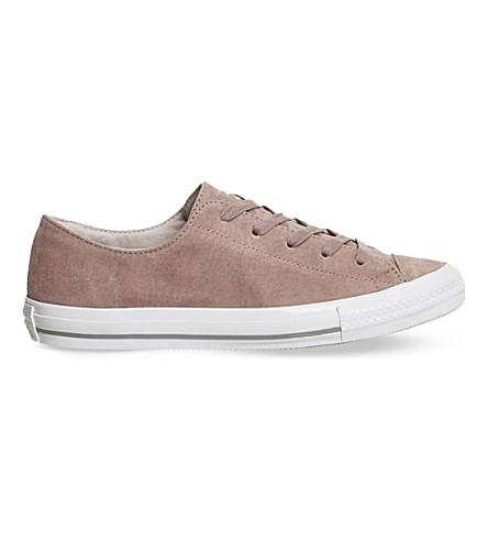 CONVERSE Chuck taylor all star gemma suede trainers