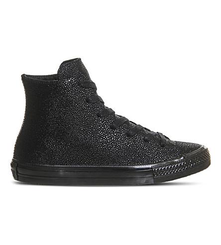 CONVERSE All Star Gemma leather trainers (Black mono stingray