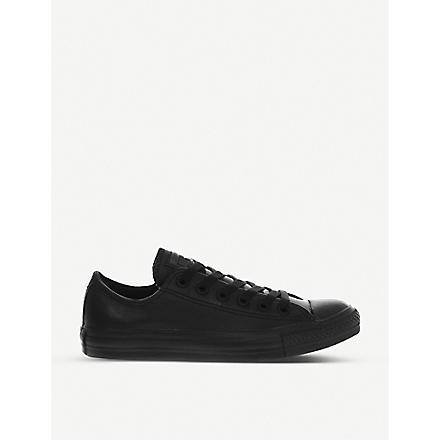 CONVERSE All Star low-top leather trainers (Black