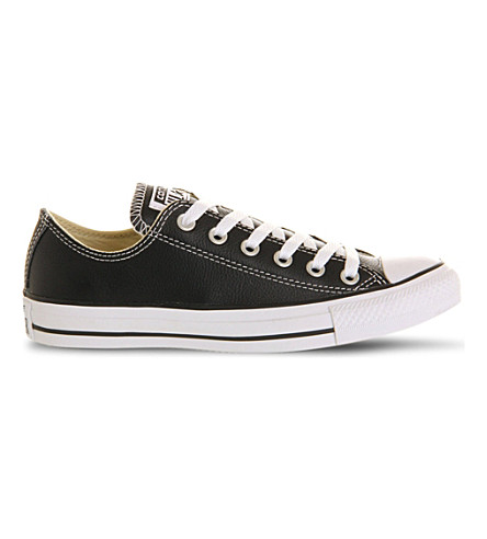 CONVERSE All Star leather low-top trainers (Black