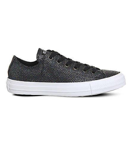 CONVERSE Allstar low-top embellished leather trainers (Stingray+black+gun