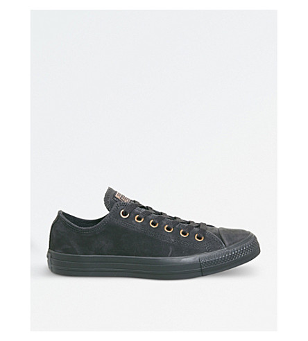 CONVERSE All Star suede low-top trainers (Almost+black+gold