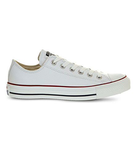 CONVERSE All Star low-top leather trainers (Optical+white