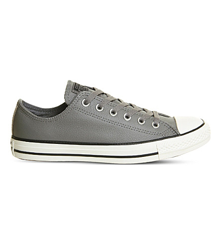 CONVERSE All Star leather low-top trainers (Mason+egret