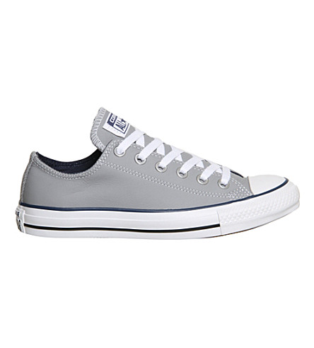 CONVERSE All star low-top leather trainers (Grey navy