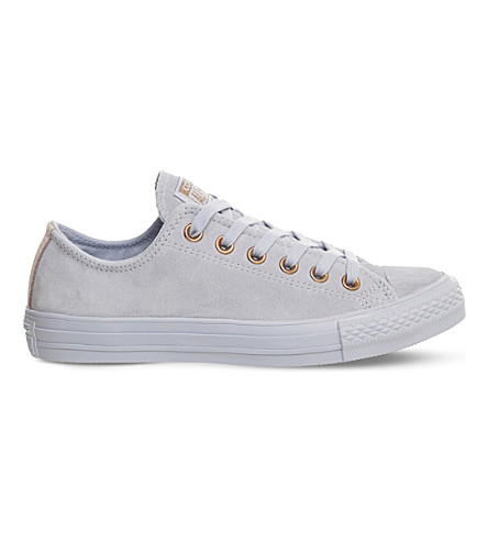 CONVERSE All Star suede low-top trainers (Porpoise+vapour+pink