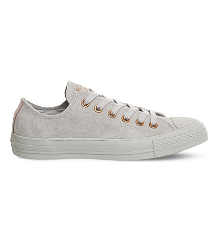 CONVERSE All Star suede low-top trainers (Mouse+vapour+pink