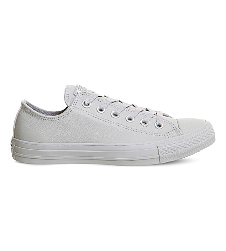 CONVERSE All Star low-top leather trainers (Ash+grey+silver