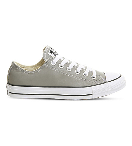 CONVERSE Allstar low-top leather trainers (Cadet+grey+black