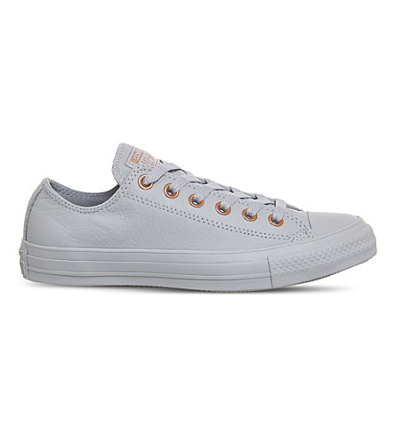 CONVERSE All Star low-top leather trainers (Wolf+grey+blush
