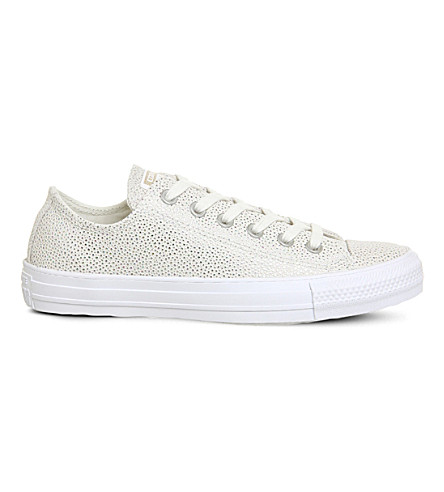 CONVERSE Allstar low-top embellished leather trainers (Stingray+grey
