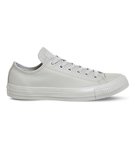 CONVERSE Allstar low-top leather trainers (Ash+grey+silver