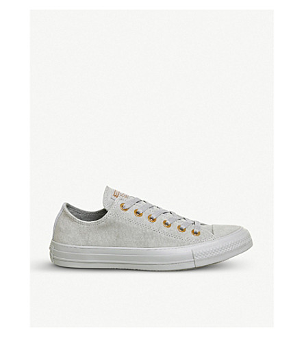 CONVERSE Allstar low-top leather trainers (Wolf+grey+blue