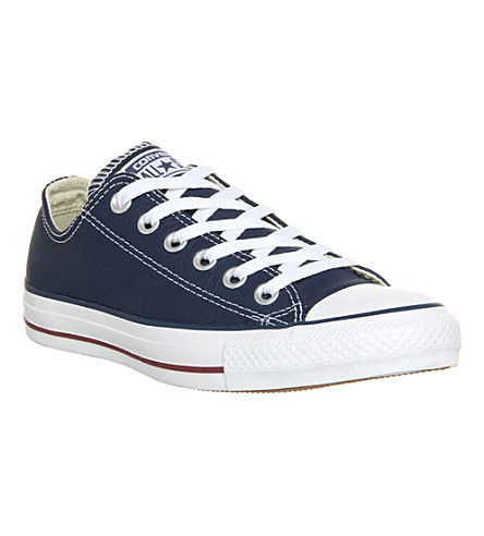 CONVERSE All Star low-top leather trainers (Navy oxheart